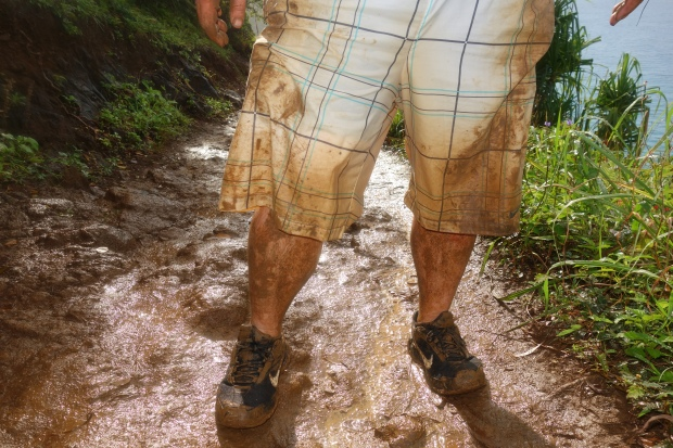 There was some serious mud on this particular day, as evidenced by Derek's destroyed shorts