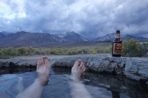 Excellent views of the Sierras from the Hot Tub