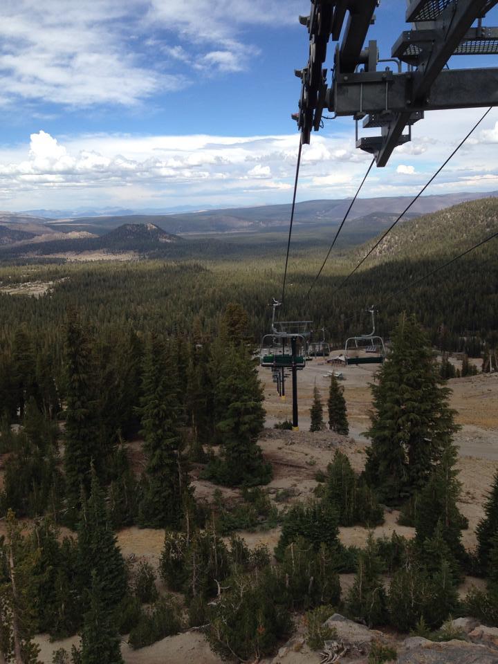 Views from the main Gondola at Mammoth Mountain