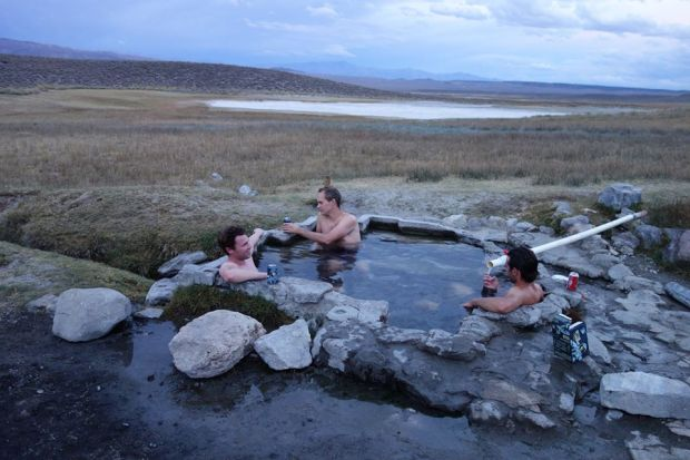 Shepherd's hot springs with some rock climber dudes