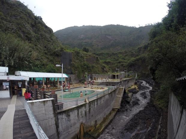 El Salado thermal baths, nestled beside Rio Bascun